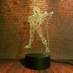 3D Illusie Lamp Woman Soldier (7 kleuren instelbaar)