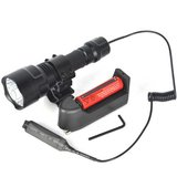 Complete tactical flashlight set incl pressure switch, mount, accu & lader.