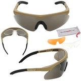 Swisseye Raptop safety glasses veiligheidsbril schietbril tan zwart groen
