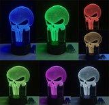 3D Illusie Lamp Punisher (7 kleuren instelbaar)_