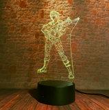 OP=OP 3D Illusie Lamp Woman Soldier (7 kleuren instelbaar)_