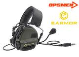 Opsmen Earmor M32 Headset zwart black FG groen coyote tan