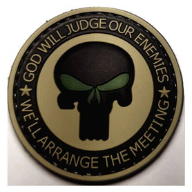 Patch Punisher rond (PVC)