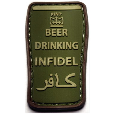 Patch Beer Drinking Infidel (PVC)