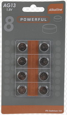 Knoopcelbatterijen 8x LR44