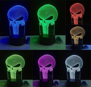3D Illusie Lamp Punisher (7 kleuren instelbaar)
