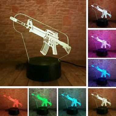 3D Illusie Lamp M4 (7 kleuren instelbaar)