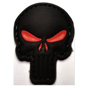Patch Punisher zwart met rode ogen (PVC)