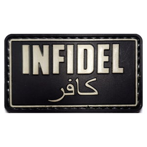 Patch Infidel Zwart (PVC)