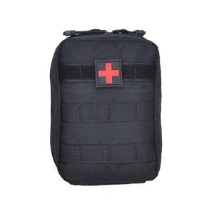 Tactical medic pouch Molle ritssluiting zipper tan od groen zwart