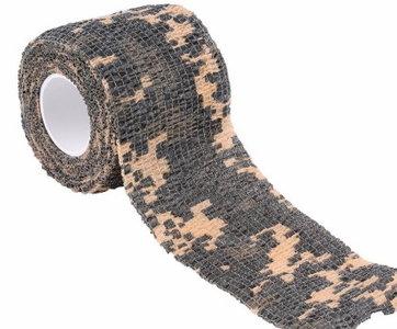Camouflage Tape 5cm x 4,5m  Bij afname van 3 stuks of meer € 1,- korting per stuk.