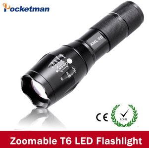 Tactical flashlight zoom t6