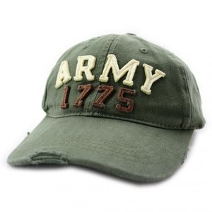 OP=OP Baseball cap stone washed Army 1775 Groen